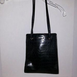 "Shiny black ""Nine West"" purse"